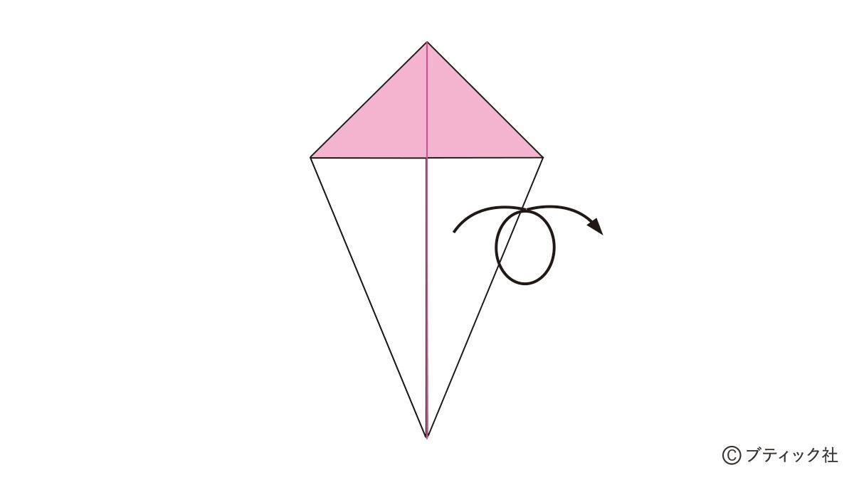 こま 簡単 折り紙