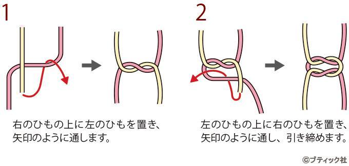 本結びの結び方(作り方基礎)|ぬくもり