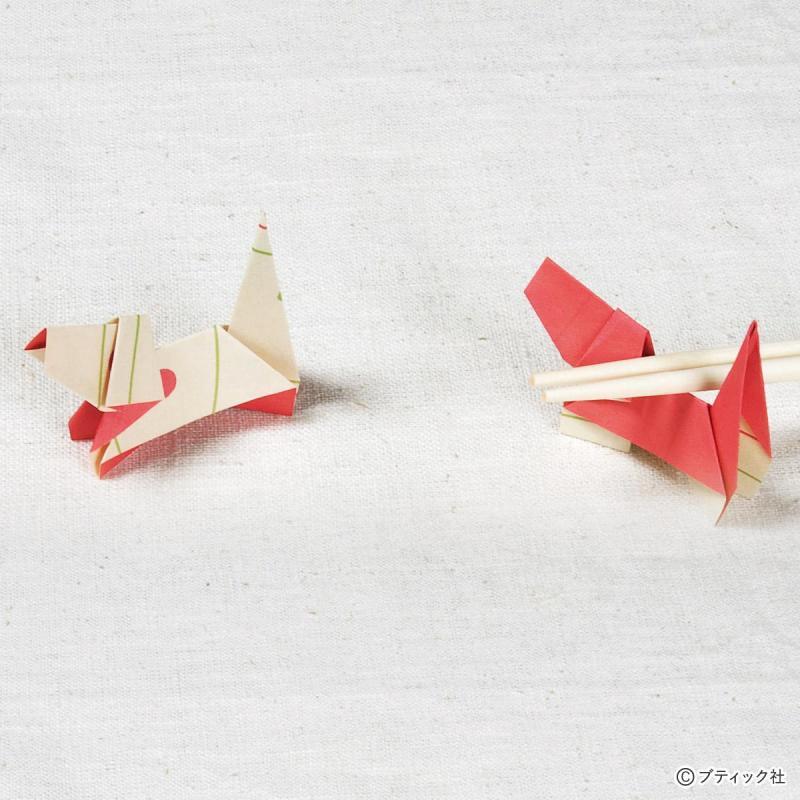 簡単!折り紙や箸袋で作る かわいい犬の箸置きの折り方