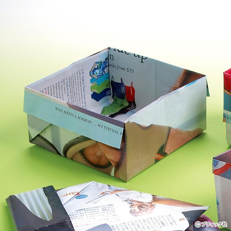 簡単!ゴミ箱の代わりになる 折り紙の箱の折り方