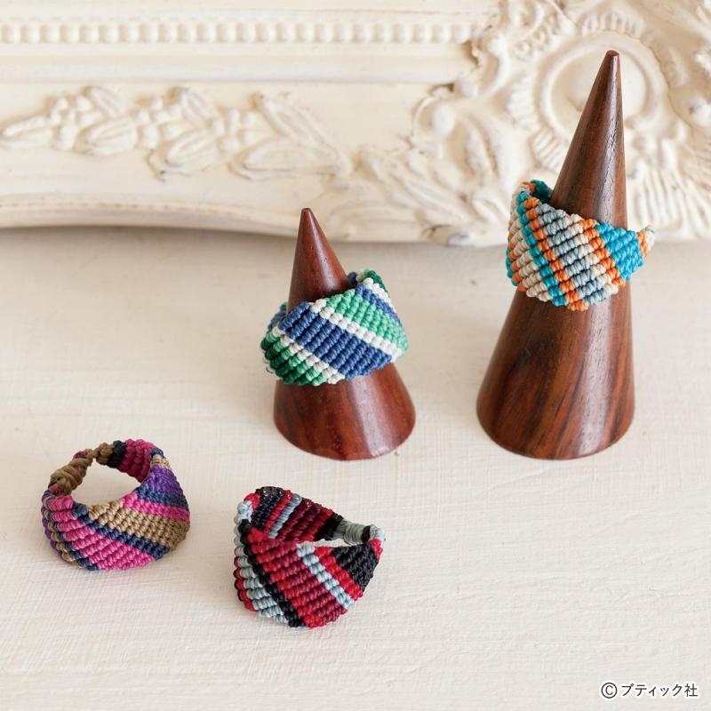 簡単に編める!マクラメで作るおしゃれなリングの作り方