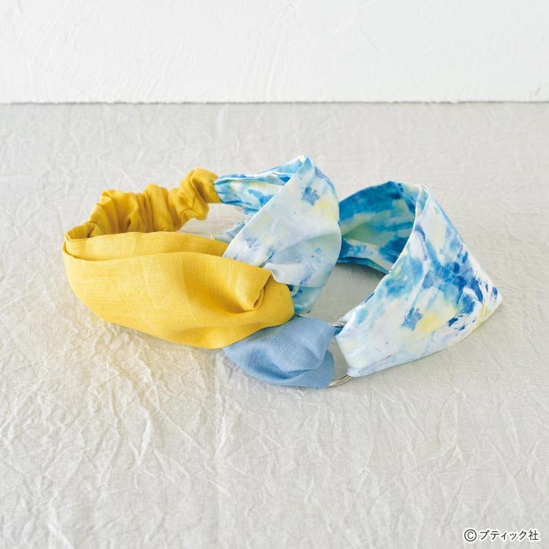手縫いで簡単に作れる!夏におすすめのヘア・ターバンの作り方