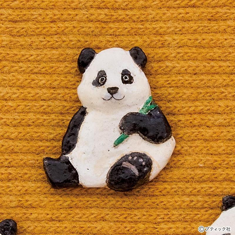 オーブン陶土で手作り「かわいいパンダのブローチ」作り方