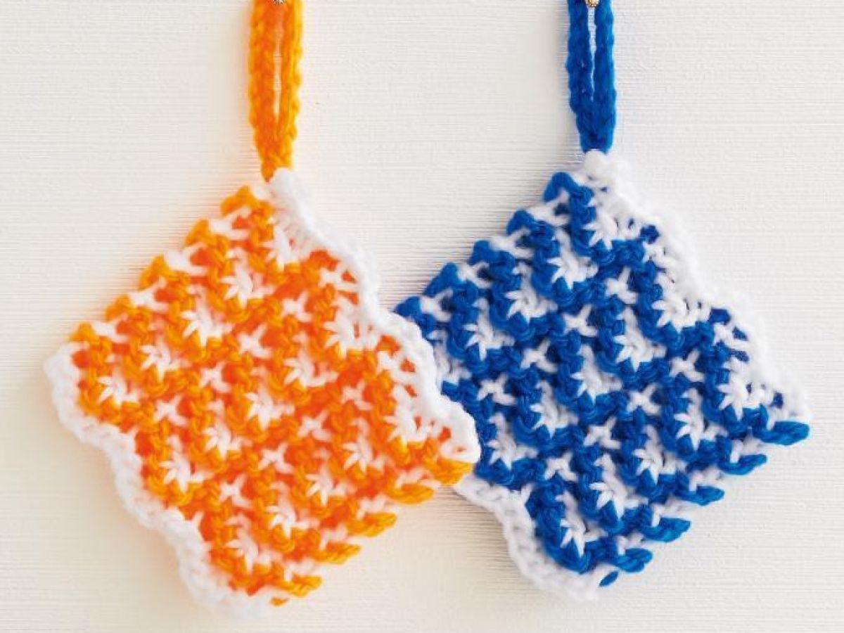 たわし 図 アクリル いちご 編み