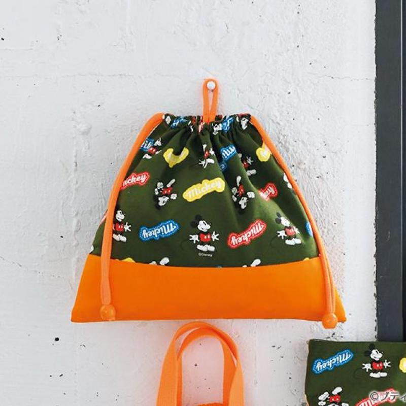 おしゃれな巾着タイプの「体操着袋・お着替え袋」の作り方