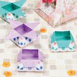 折り紙 小物入れに!二種類の「つのこう箱」の折り方