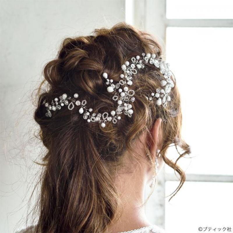 【手作りウェディングアクセサリー】小枝ヘッドドレスの作り方