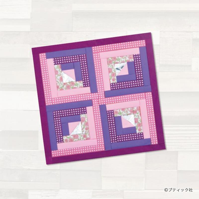 折り紙で壁を飾ろう!春らしい色のログキャビンの作り方