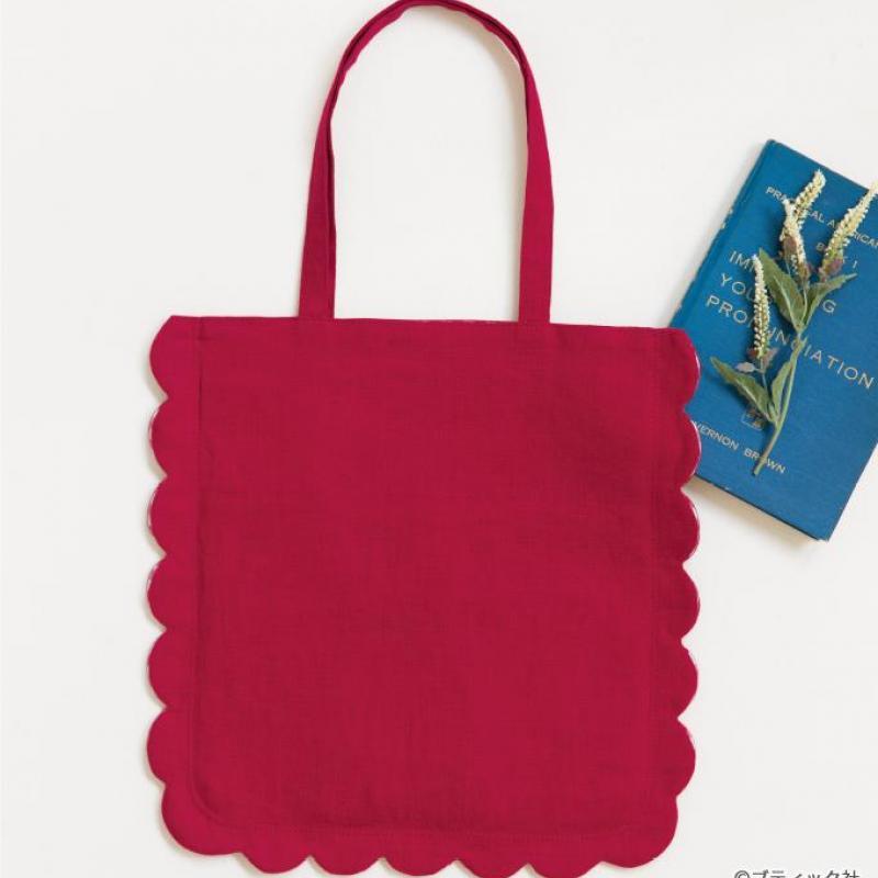 スカラップがかわいい!手作りのハンドバッグの作り方