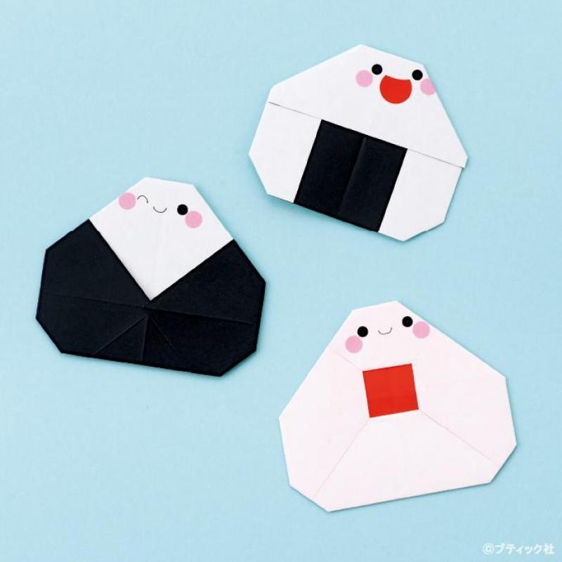 折り紙 おむすびの折り方♪子供も簡単に作れる!
