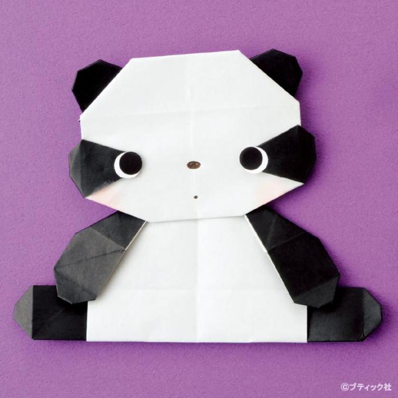 折り紙「パンダ」の折り方!~手順画像付きで解説