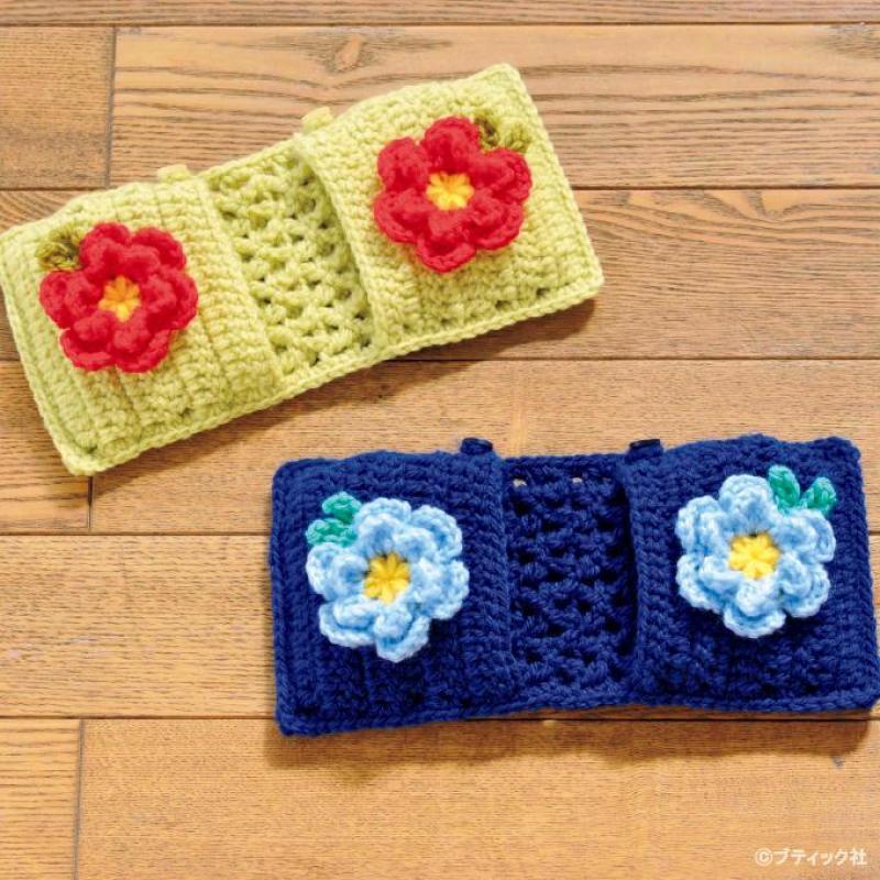 お掃除が楽しくなる!お花のエコモップの編み方
