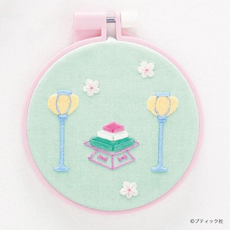 刺繍がかわいい「ひなまつり」のフレームの作り方