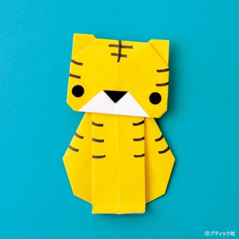 簡単!折り紙「トラ」の作り方