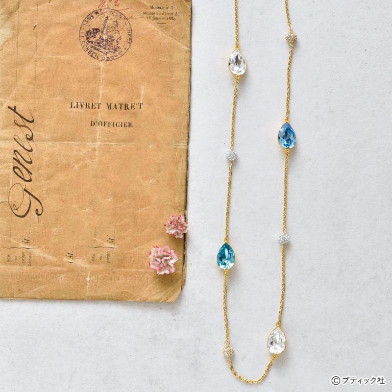 「スワロフスキー Crystal Dropsネックレス」の作り方