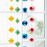 【折り紙】こんぺいとうの形の和風つるし飾りの作り方