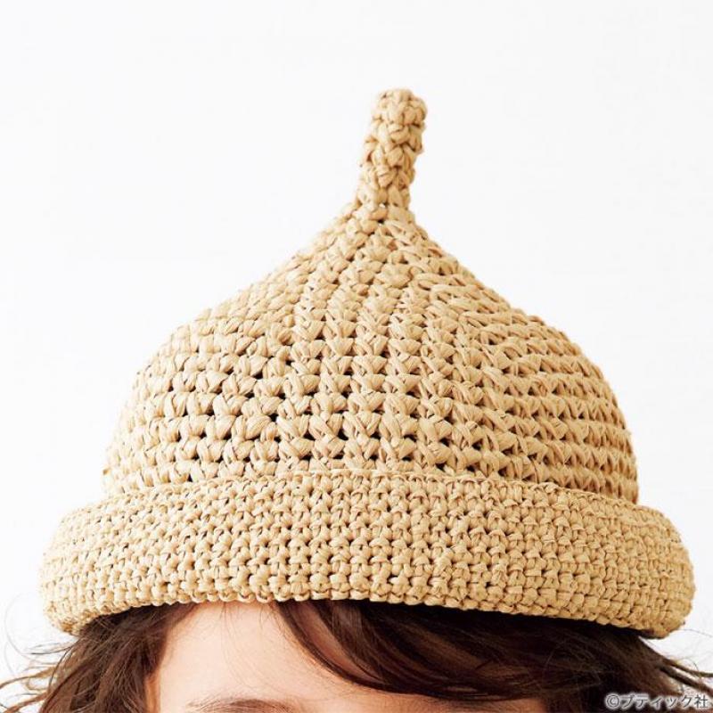 夏にぴったり「どんぐり麦わら帽子」の編み方