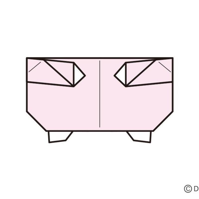 折り紙の基本「体」の折り方