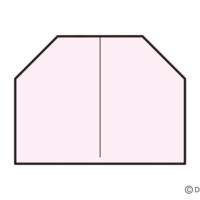 折り紙の基本「顔」の折り方