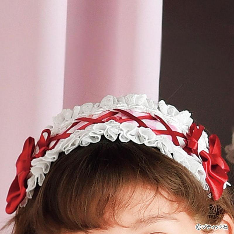 子供用カチューシャ「リボンヘッドドレス」の作り方