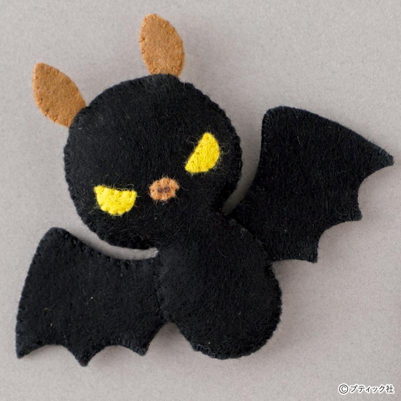ハロウィン小物!フェルトマスコット「コウモリ」の作り方