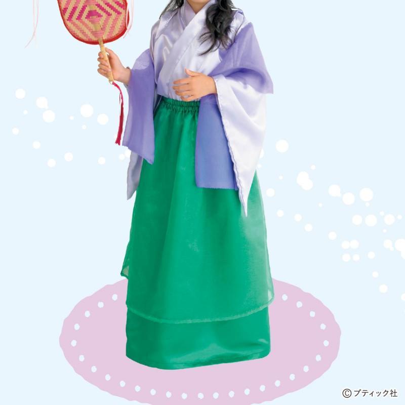 浦島太郎から「乙姫」の子供用コスチュームの作り方