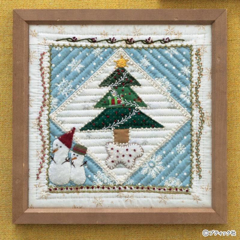 パッチワーク「キラキラ輝くクリスマス」フレームの作り方