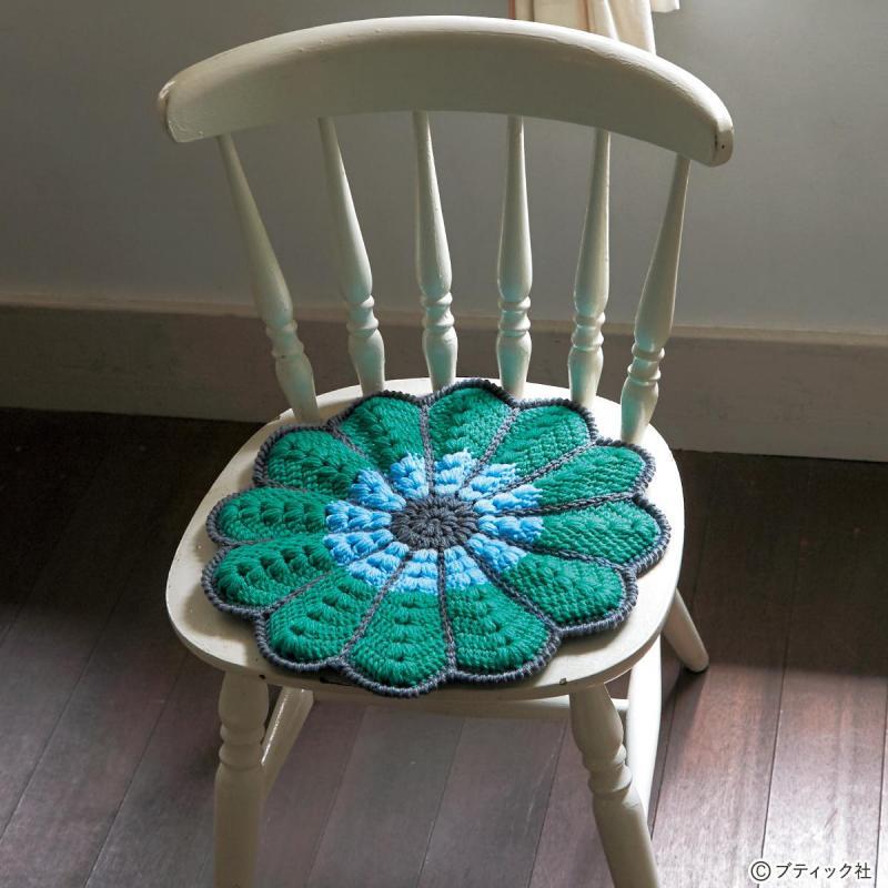 かぎ針のレシピ「マーガレットの円座」の編み方