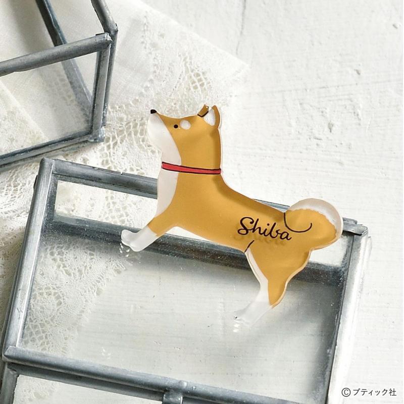 プラバン「犬モチーフのブローチ」の作り方