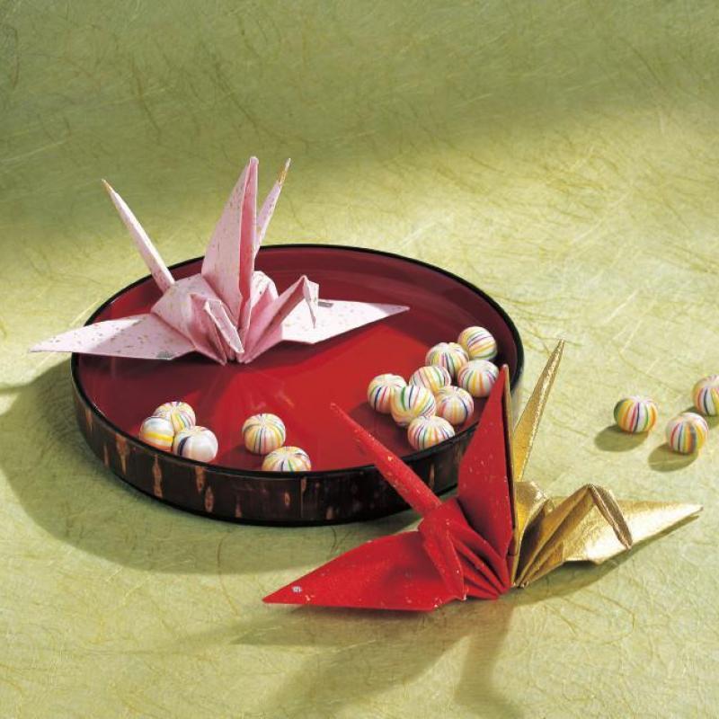 1枚の折り紙で作れる、簡単な鶴の折り方(妹背山)