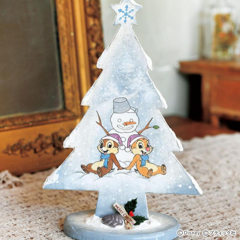 トールペインティング「チップ&デール White Christmas」作り方