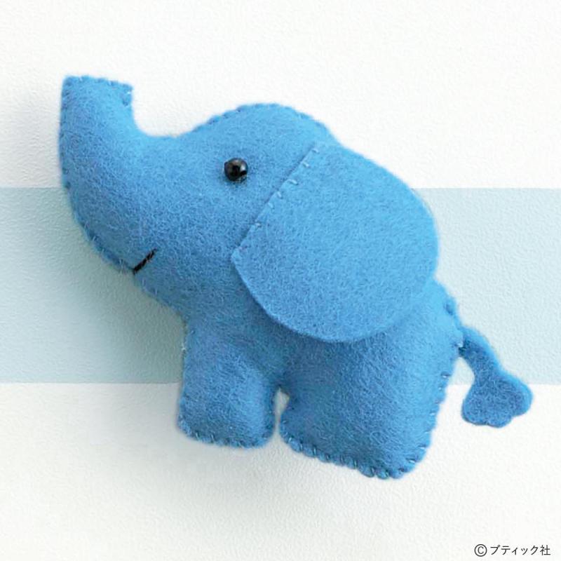 フェルトマスコット「楽しい動物園 ぞう」の作り方