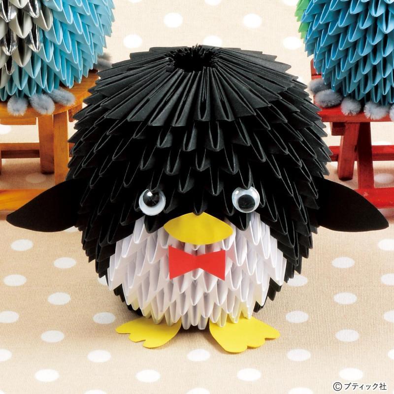 折り紙手芸「ペンギン」の作り方