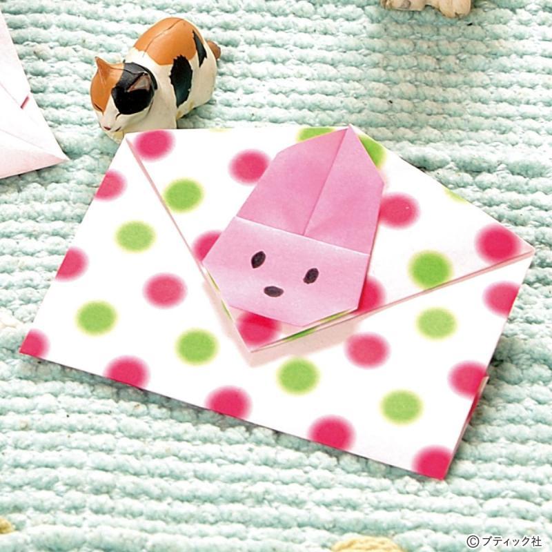 「うさぎのぽち袋 」折り紙での作り方