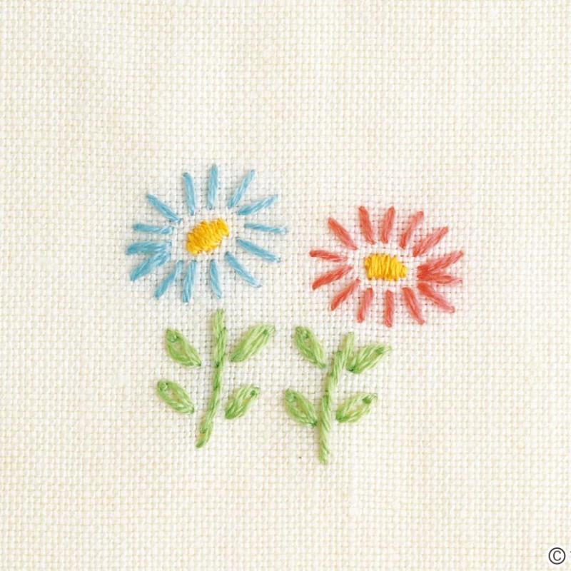 刺しゅうの基礎・初心者向け「花の刺しゅう」のやり方