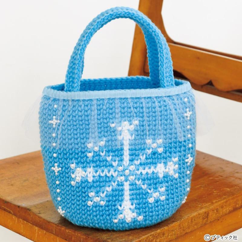 手編み「アナと雪の女王のトートバッグ」作り方
