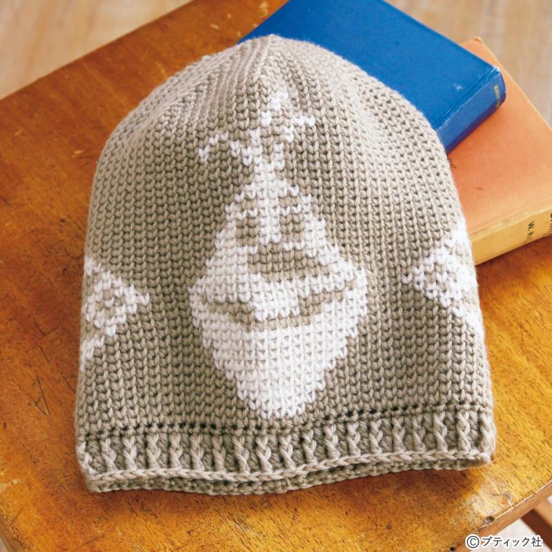 「オラフのニットキャップ(アナと雪の女王)」の編み方