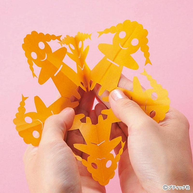 切り絵・切り紙の基礎「切った紙の開き方」