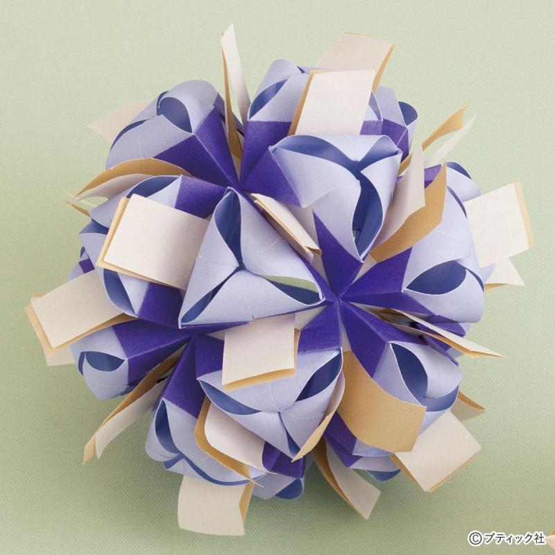 細長パーツがおしゃれ!ユニット折り紙「ジグ×ギフトリボン」作り方