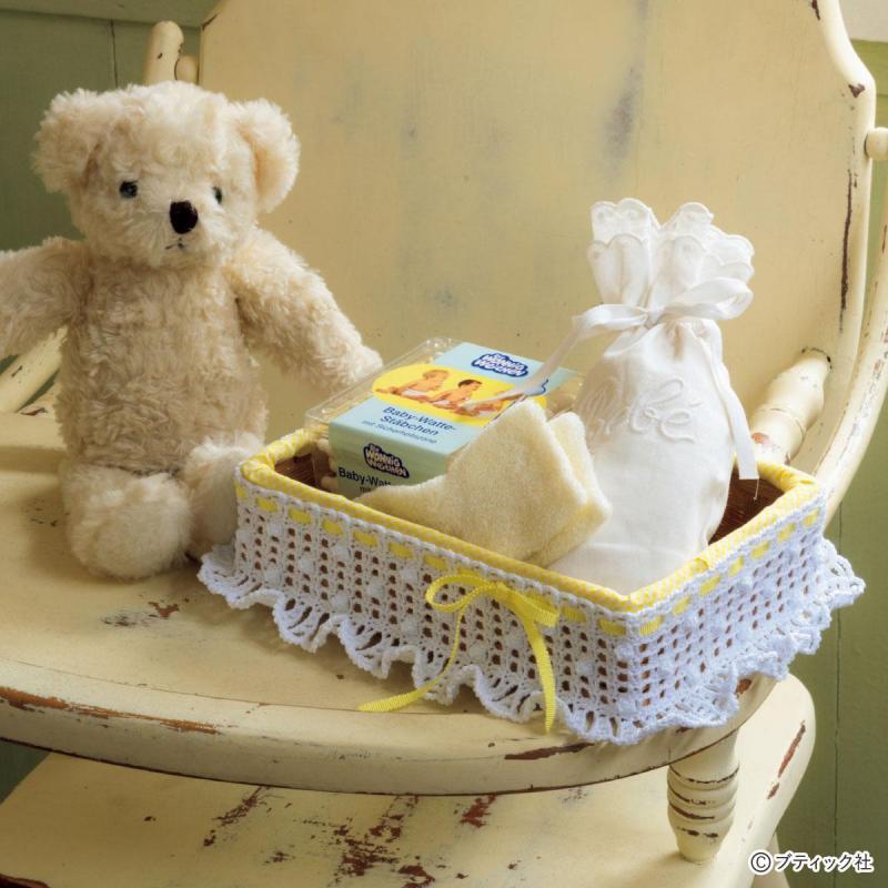 出産祝いにもおすすめ「ベビーの小物入れ」の作り方