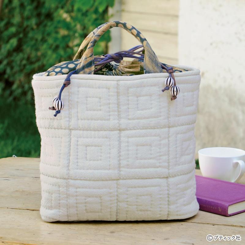 和布の「キルティングバッグ」作り方