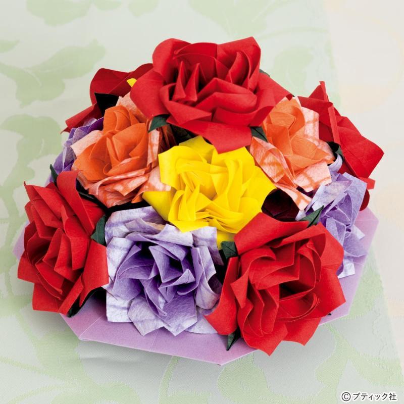 くすだまのテーブルオブジェ「薔薇の塔」作り方