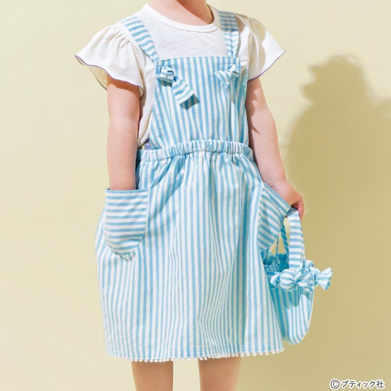 型紙いらずの簡単こども服「サロペットスカート」作り方