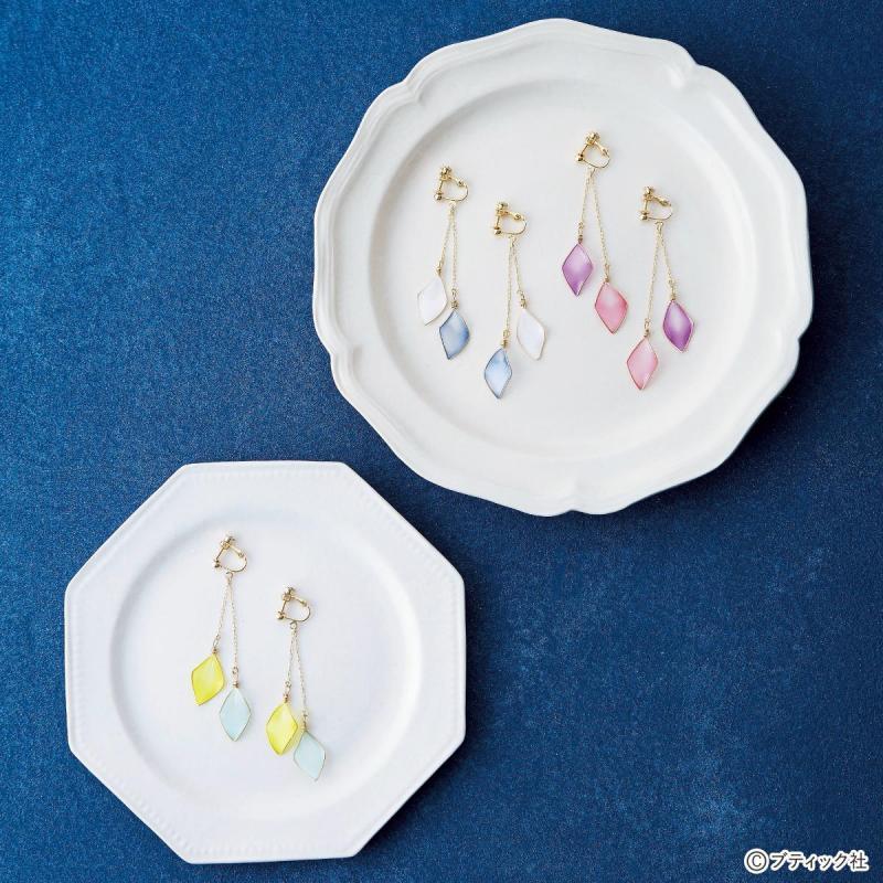 夏にぴったり!マニキュアで作る おしゃれなダイヤ形のイヤリングの作り方(アクセサリー)