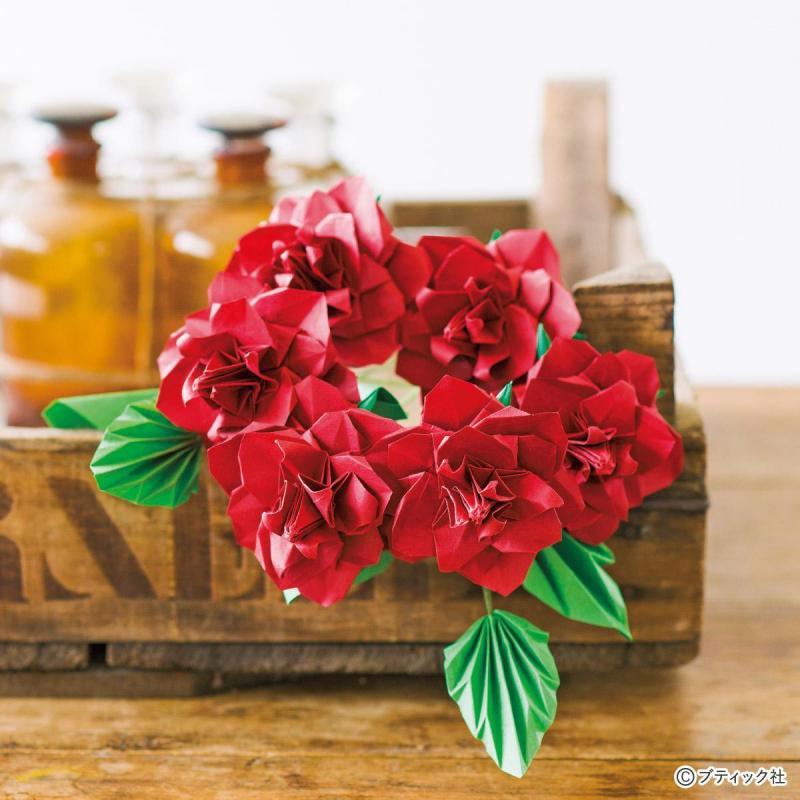 簡単『折り紙のバラ』の作り方!子供にもおすすめの5作品