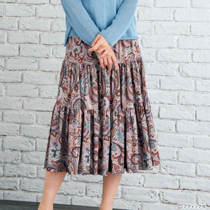 「ふんわり3段のティアードスカート(総ゴム仕立て)」作り方