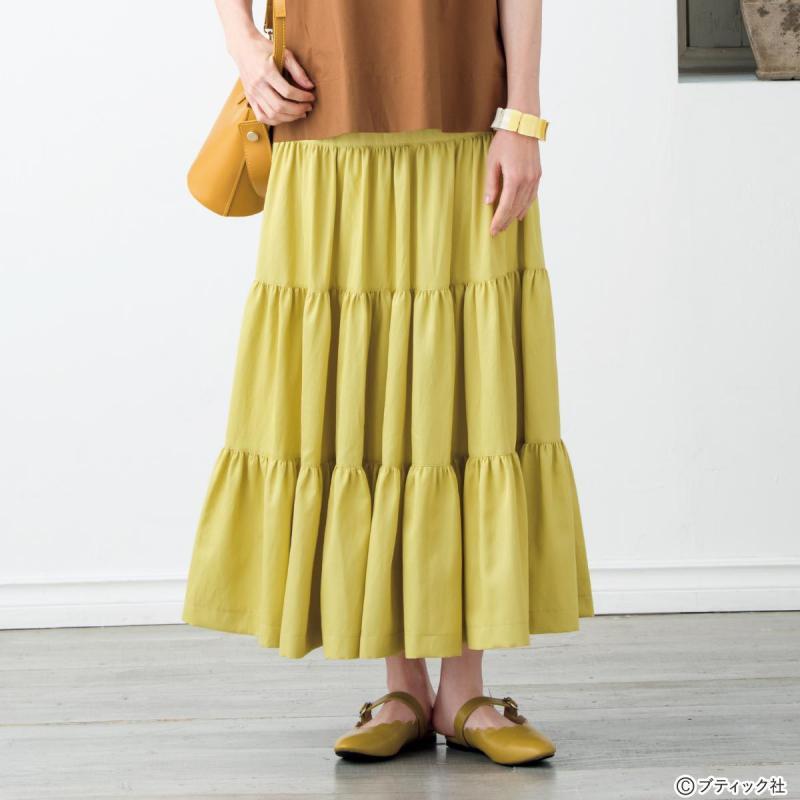 ボリュームたっぷり!「4段ティアードスカート」作り方