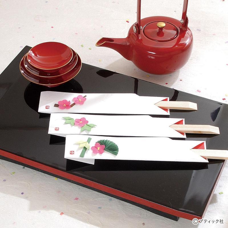お祝いの席におすすめ「松竹梅の箸袋」作り方