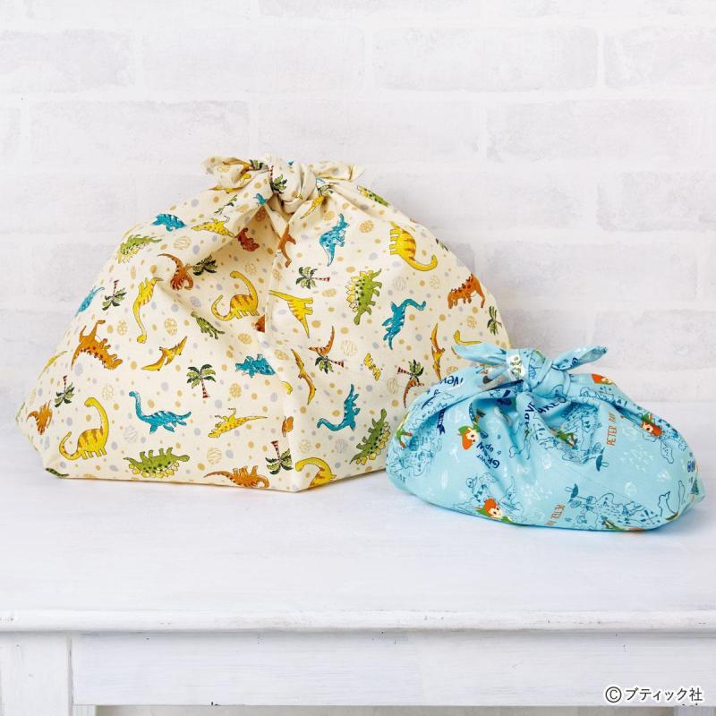 1枚の布を用意するだけ!子供のお弁当袋になる「あずま袋」作り方