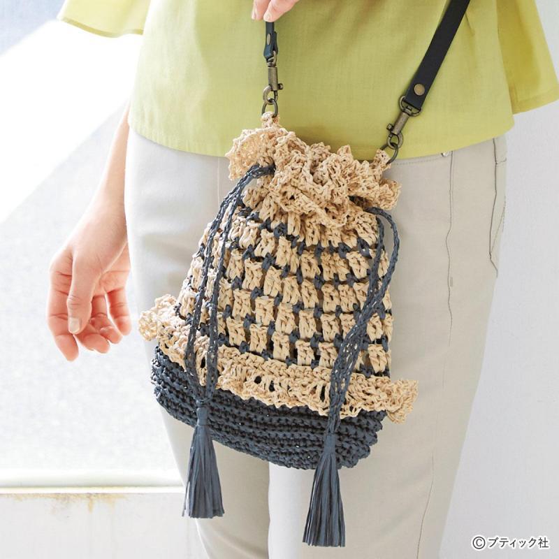 「夏用の手編みポシェット」作り方